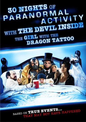 '30 Nights of Paranormal Activity With The Devil Inside The Girl With The Dragon Tattoo Bluray' Cover - 2013